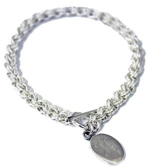 Sterling Silver Oval Byzantine Link Bracelet - Atlanta Jewelers Supply