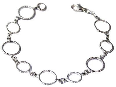 Sterling Silver Round Satin Finished Link Bracelet With Lobster Claw - Atlanta Jewelers Supply
