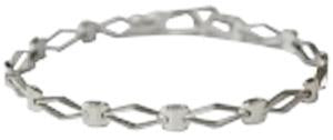 Sterling Silver Diamond Shaped Link Bracelet - Atlanta Jewelers Supply