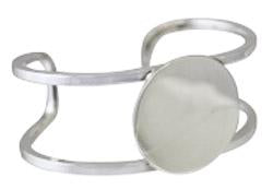 Sterling Silver Engravable Circle Cuff Bracelet Double Wire Band - Atlanta Jewelers Supply