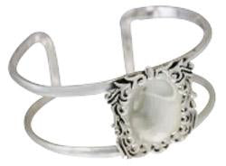 Sterling Silver Engravable Square Cuff Bracelet With Designed Trim & Double Wire Band - Atlanta Jewelers Supply