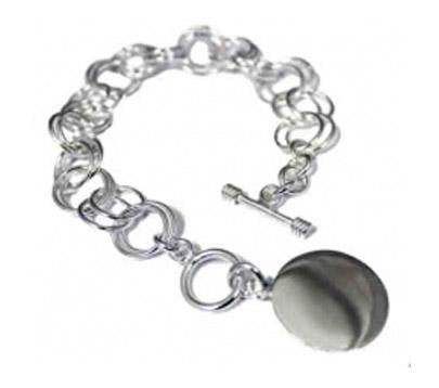 Sterling Silver Double Ring Link Toggle Bracelet atlanta-jewelers-supply.myshopify.com