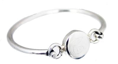 Sterling Silver Children's Puffed Bangle Bracelet - Atlanta Jewelers Supply