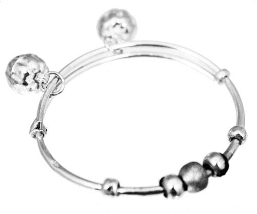 Sterling Silver Jingle Bracelet With Beaded Design - Atlanta Jewelers Supply