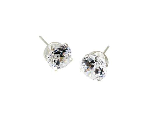 Sterling Silver Round Cz Stud Earring 2Mm - Atlanta Jewelers Supply