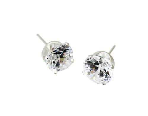Sterling Silver 3Mm Round CZ Stud Earrings - Atlanta Jewelers Supply