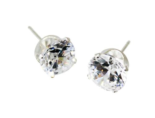 Sterling Silver 6MM Round CZ Stud Earrings - Atlanta Jewelers Supply