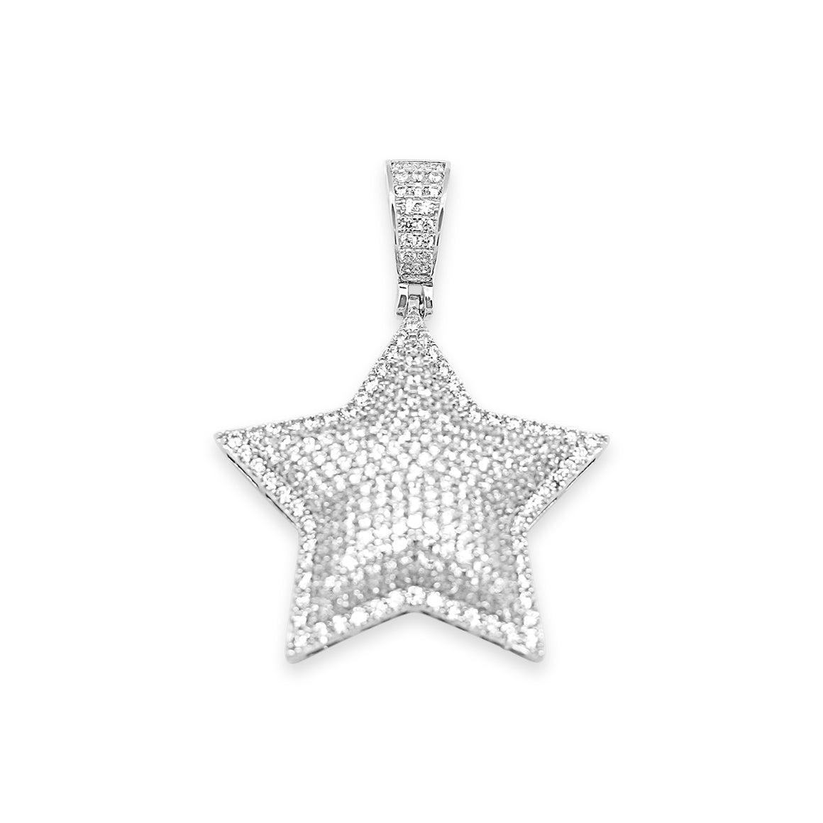 Sterling Silver Star CZ Pendant - Atlanta Jewelers Supply