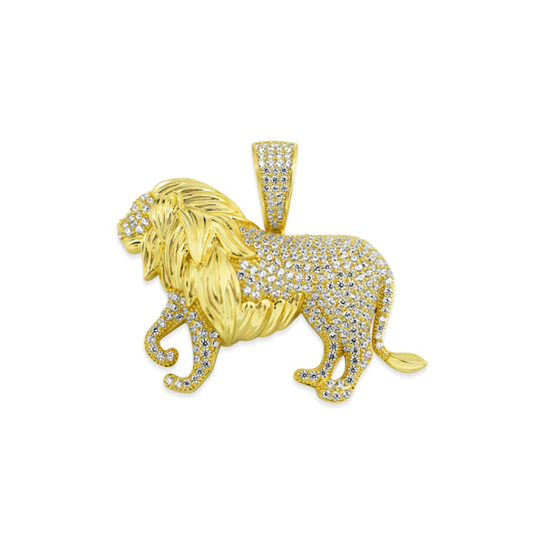 Sterling Silver Lion CZ Pendant - Atlanta Jewelers Supply
