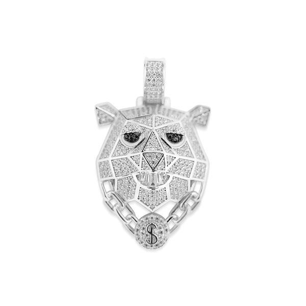 Sterling Silver Rich Polar Bear CZ Pendant - Atlanta Jewelers Supply