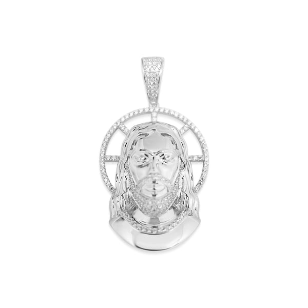 Sterling Silver Jesus CZ Pendant - Atlanta Jewelers Supply