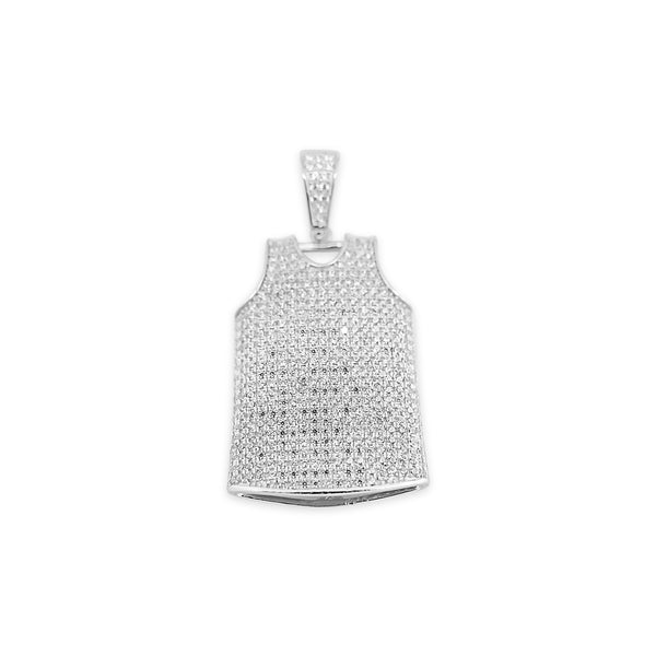 Sterling Silver Jersey CZ Pendant - Atlanta Jewelers Supply