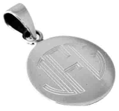 Sterling Silver Round Engravable Pendant With Bail - atlanta-jewelers-supply