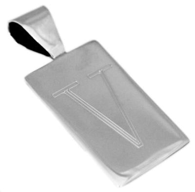 Vertical Rectangular Pendant With An Attached Bail - atlanta-jewelers-supply