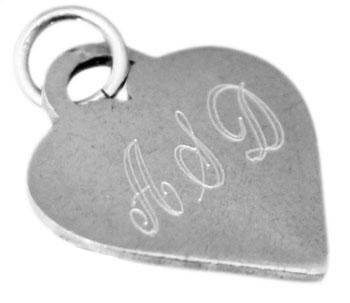 Sterling Silver Engravable Heart Pendant - atlanta-jewelers-supply