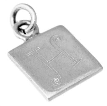 Sterling Silver Square Engravable Pendant - atlanta-jewelers-supply