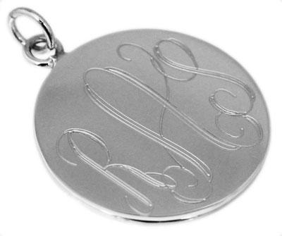 Sterling Silver Round Engravable Pendant - atlanta-jewelers-supply
