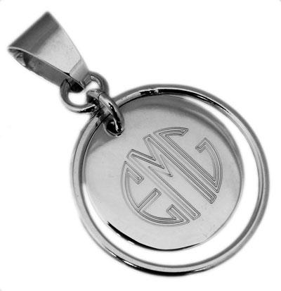 Sterling Silver Engravable Round Disc Pendant - atlanta-jewelers-supply