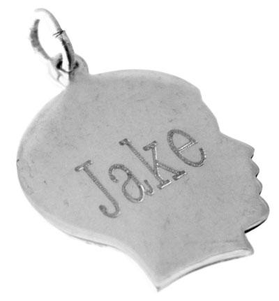 Sterling Silver Boy Head Pendant - Atlanta Jewelers Supply
