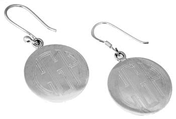 Sterling Silver Nickel Size Circle Engravable Earring - Atlanta Jewelers Supply