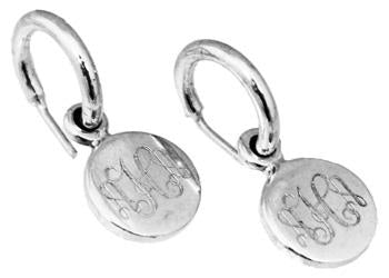 Sterling Silver Dime Sized Engravable Post Hoops Earrings - Atlanta Jewelers Supply