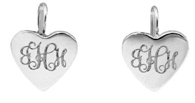 Sterling Silver Post Heart Shape Engravable Disc Earing - Atlanta Jewelers Supply