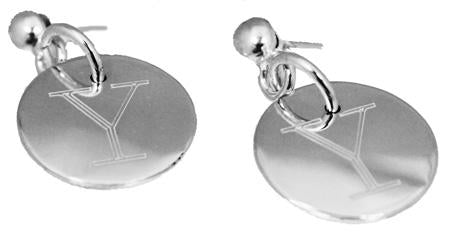 Sterling Silver Nickel Size Engravable Round Earrings - Atlanta Jewelers Supply