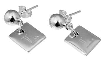 Sterling Silver Engravable Square Earrings - atlanta-jewelers-supply