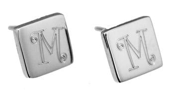Sterling Silver Engravable Square Stud Earrings - atlanta-jewelers-supply