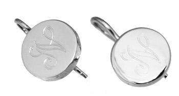 Sterling Silver Small Engravable Round Earrings - Atlanta Jewelers Supply