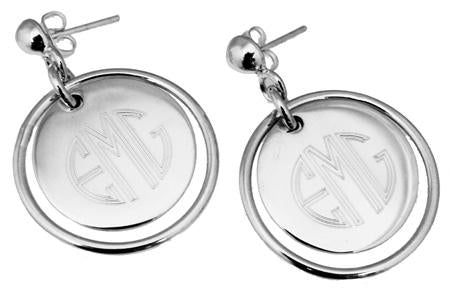 Sterling Silver Engravable Earrings With Round Disc - atlanta-jewelers-supply