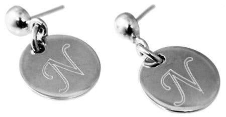 Sterling Silver Nickle Sized Dangled Disc Stud Earring - Atlanta Jewelers Supply