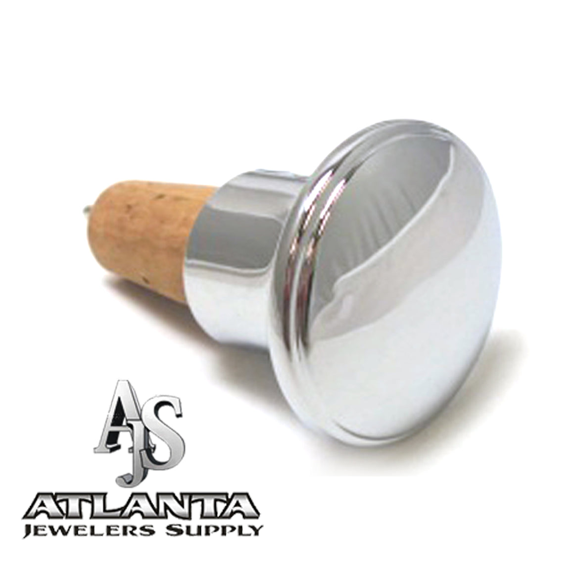 Engravable Round Bottle Stopper with Cork Bottom atlanta-jewelers-supply.myshopify.com