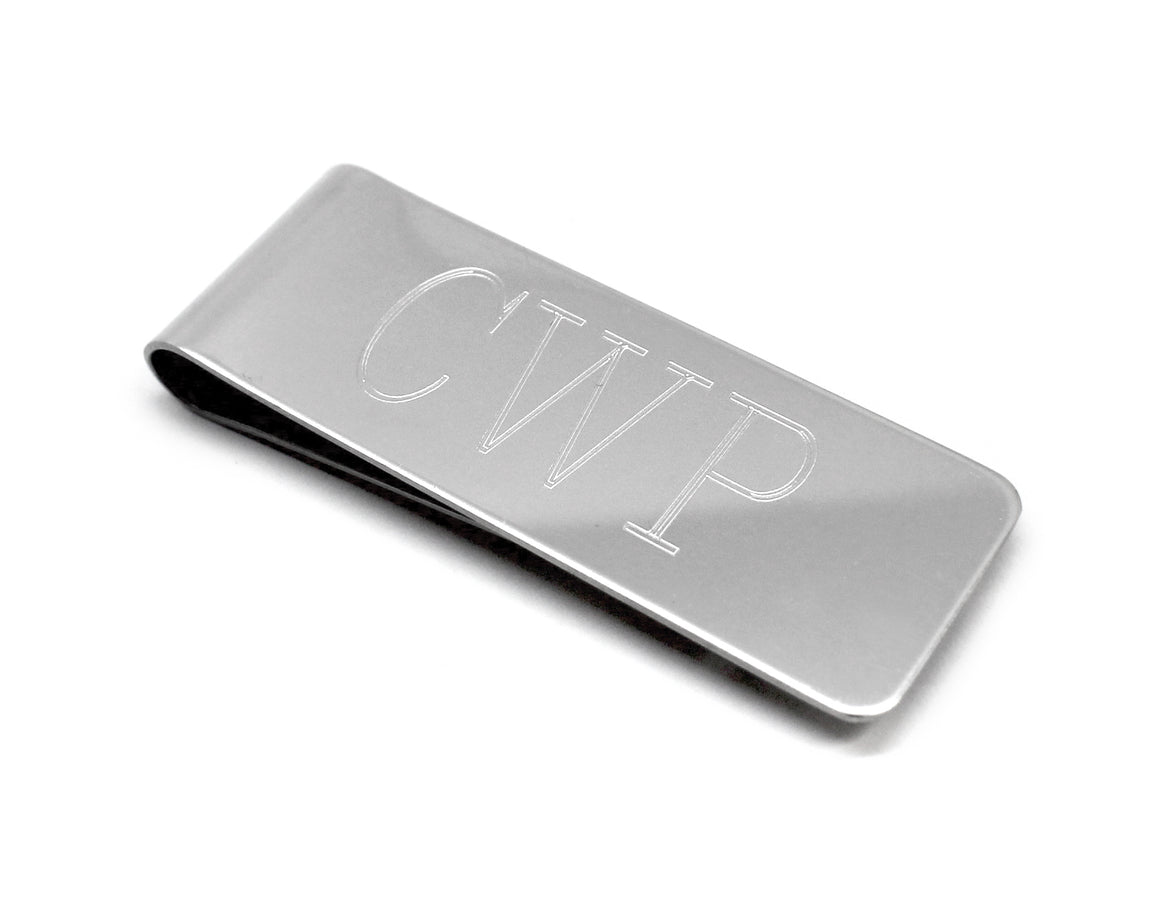 "Engravable Silver Plated 2"" x 0.75""  Non Tarnish Money Clip atlanta-jewelers-supply.myshopify.com"