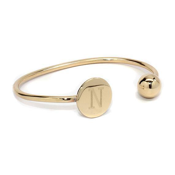 Engravable Gold German Silver Ball And Disc Bracelet atlanta-jewelers-supply.myshopify.com