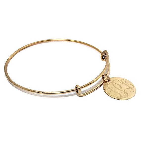 Engravable Gold German Silver Adjustable Bracelet - Atlanta Jewelers Supply