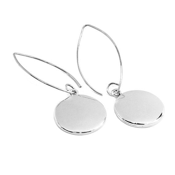 Engravable German Silver Round Circle Earrings - Atlanta Jewelers Supply