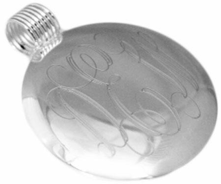 Engravable German Silver Round Pendant With Attached Ridged Bail - Atlanta Jewelers Supply