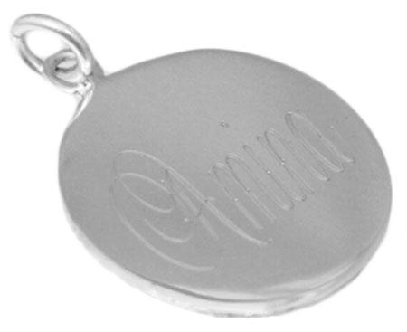 Engravable German Silver Round Pendant With Ring On Top - Atlanta Jewelers Supply