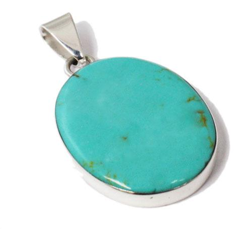 Oval Turquoise Kingman Stone Pendant atlanta-jewelers-supply.myshopify.com