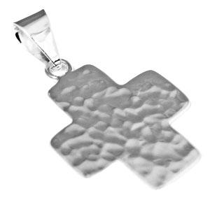 German Silver Engravable Hammered Cross Pendant atlanta-jewelers-supply.myshopify.com