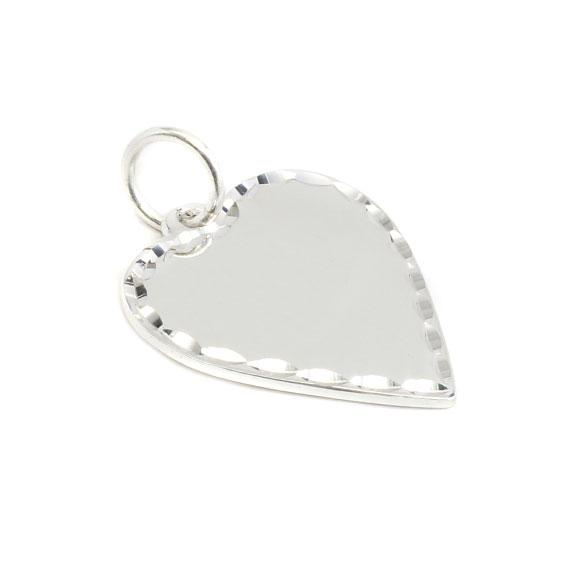 German Silver Engravable Silver Colored Heart Pendant - Atlanta Jewelers Supply