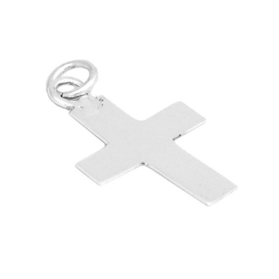 Simple But Fashionable German Silver 0.7 (19 Mm) X 0.5 (15 Mm) Cross Pendant. - Atlanta Jewelers Supply