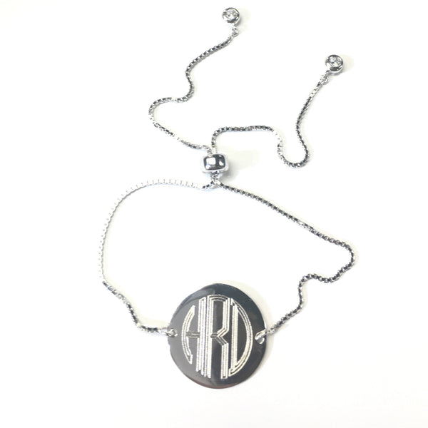 Sterling Silver Engravable Round Adjustable Bracelets Available In 3 Colors - Atlanta Jewelers Supply