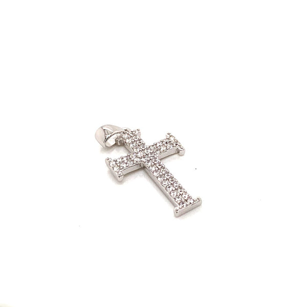 STERLING SILVER CLASSIC CZ CROSS PENDANT - Atlanta Jewelers Supply