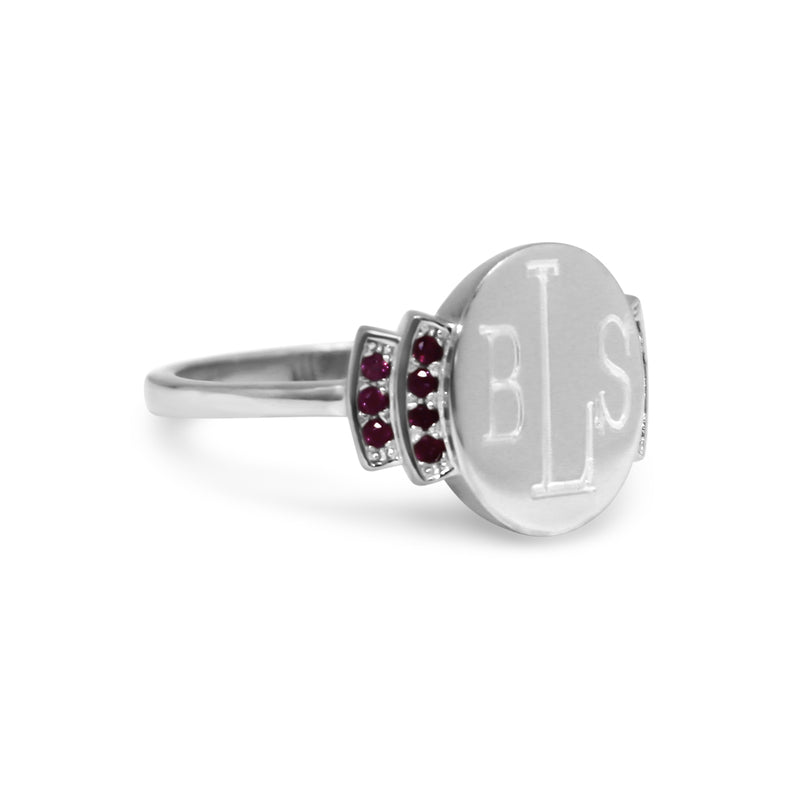 Sterling Silver Nora Ring Three styles (Clear CZ, Ruby, Blue Gemstone) - Atlanta Jewelers Supply