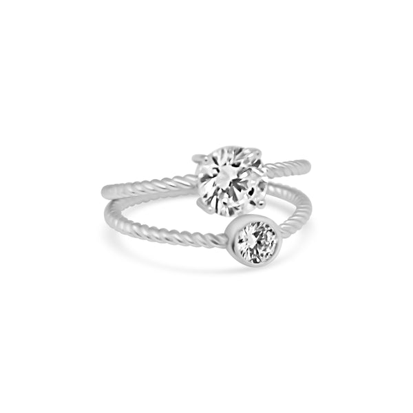 Double Rope Band CZ Ring - Atlanta Jewelers Supply