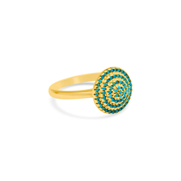 Gemstone Spiral Dome Ring - Atlanta Jewelers Supply