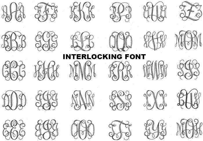 Interlocking Font - Atlanta Jewelers Supply