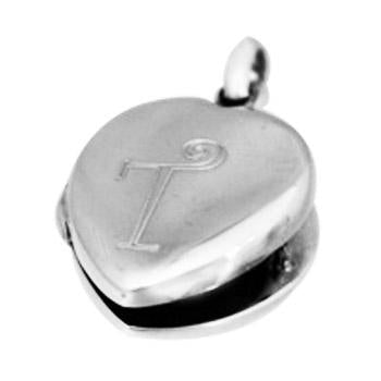 Sterling Silver Plain Engravable Heart Locket - atlanta-jewelers-supply